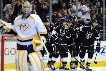 Mike Richards Jeff Carter Nashville Predators v Los Angeles Kings