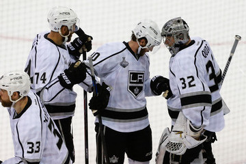 Mike Richards Jonathan Quick NHL Stanley Cup Final: Game Three