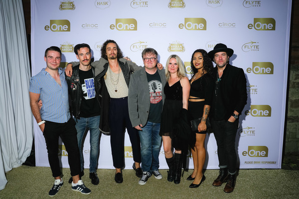 EOne Best Of The Fest TIFF 2019 Celebration [best of the fest tiff 2019 celebration,eone best of the fest tiff 2019 celebration,social group,event,yellow,youth,design,team,tourism,guests,mike smith,lisa smith,robert sheehan,brad stella,r-l,eone,sun]