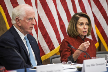 Mike Thompson House Democratic Leader Nancy Pelosi And House Dem Leadership Hold Forum on the GOP Tax Plan