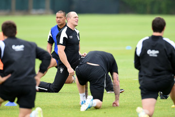 Mike Tindall Barbarians Training Session