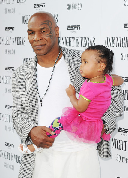 Photo of Mike Tyson & his  Daughter  Milan Tyson