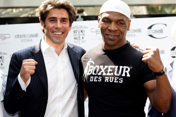 Alan Rizzi Mike Tyson Press Conference In Milan