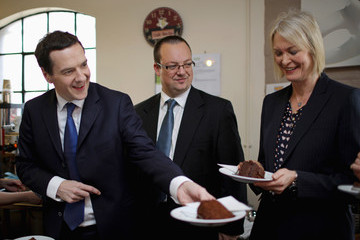 Mike Wood Chancellor George Osborne Hits The Campaign Trail In The West Midlands