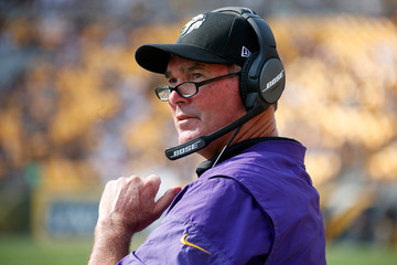 Mike Zimmer Minnesota Vikings v Pittsburgh Steelers