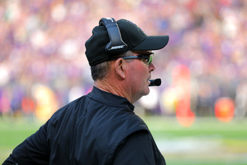 Mike Zimmer Baltimore Ravens v Minnesota Vikings