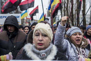 Mikheil Saakashvili Protest Held Against Government in Ukraine