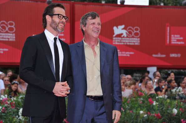"Acor Guy Pearce and director Todd Haynes attend the ""Mildred Pierce"" premiere during the 68th Venice Film Festival at Palazzo del Cinema on September 2, 2011 in Venice, Italy."