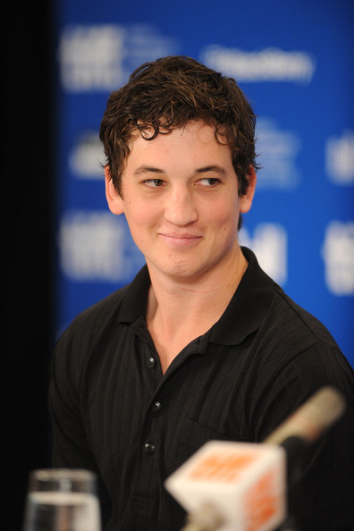 Miles Teller Actor Miles Teller speaks at  quot Rabbit Hole quot  press    Miles Teller