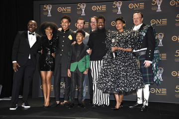 Miles Brown Marcus Scribner 50th NAACP Image Awards - Press Room