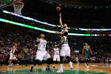 Miles Plumlee Milwaukee Bucks v Boston Celtics