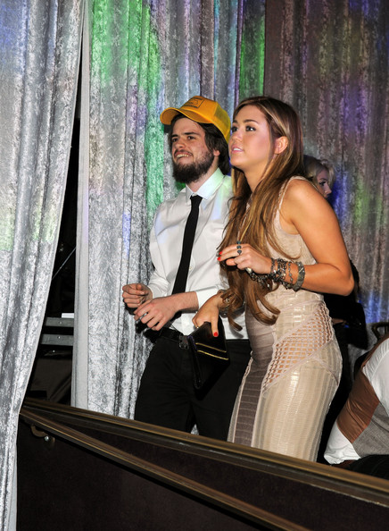 Miley Cyrus (EXCLUSIVE COVERAGE) Singer Miley Cyrus attends the 2011 Pre-GRAMMY Gala and Salute To Industry Icons Honoring David Geffen at Beverly Hilton on February 12, 2011 in Beverly Hills, California.