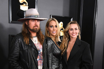 Miley Cyrus Billy Ray Cyrus 61st Annual Grammy Awards - Arrivals