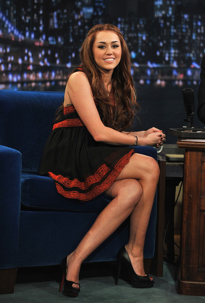 "Miley Cyrus Miley Cyrus visits ""Late Night with Jimmy Fallon"" at Rockefeller Center on March 3, 2011 in New York City."