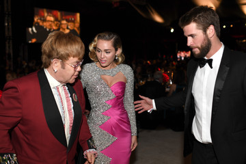 Miley Cyrus Liam Hemsworth 26th Annual Elton John AIDS Foundation Academy Awards Viewing Party sponsored by Bulgari, celebrating EJAF and the 90th Academy Awards  - Inside