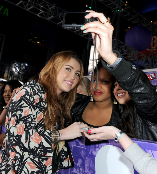 """Miley Cyrus Singer/actress Miley Cyrus arrives at the premiere of Paramount Pictures' """"Justin Bieber: Never Say Never"""" held at Nokia Theater L.A. Live on February 8, 2011 in Los Angeles, California."""