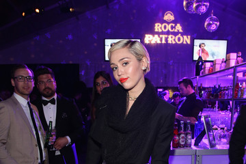 Miley Cyrus Arrivals at the Elton John AIDS Foundation Oscars Viewing Party — Part 2