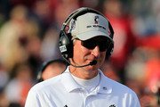 Head coach Tommy Tuberville looks on from the sidelines during the first half of their 33-17 loss to the Virginia Tech Hokies in the 2014  Military Bowl at Navy-Marine Corps Memorial Stadium on December 27, 2014 in Annapolis, Maryland.