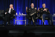 (L-R) U.S. Army Secretary John McHugh, Army Chief of Staff Gen. Raymond Odierno and Sergeant Major of the Army Raymond Chandler participate in a military family forum at the Association of the United States Army annual meeting and exposition at the Washington Convention Center October 15, 2014 in Washington, DC. According to a New York Times article published in the paper October 15, 'From 2004 to 2011, American and Iraqi troops repeatedly encountered, and at times were wounded by, chemical weapons that were hidden or abandoned years earlier.'