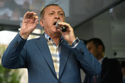 Turkish President Tayyip Erdogan delivers a speech to his supporters in Istanbul, July 16, 2016, Turkey. Istanbul's bridges across the Bosphorus, the strait separating the European and Asian sides of the city, have been closed to traffic. Turkish President Recep Tayyip Erdogan has denounced an army coup attempt, that has left atleast 90 dead 1154 injured in overnight clashes in Istanbul and Ankara.