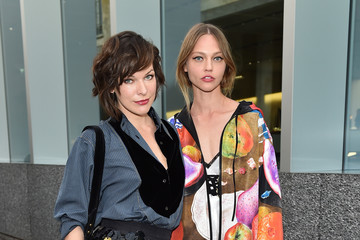 Milla Jovovich Miuccia Prada and Patrizio Bertelli Host a Private Dinner at Fondazione Prada