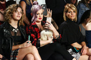 (L-R) Camren Bicondova, Kelly Osbourne and Candace Cameron Bure attend Front Row at Milly - September 2016 - New York Fashion Week at Art Beam on September 9, 2016 in New York City.