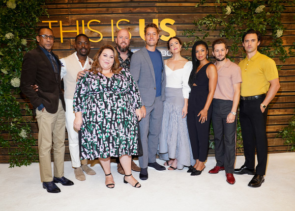 NBC's 'This Is Us' Pancakes With The Pearsons - Arrivals [this is us,social group,people,event,team,family,formal wear,pearsons - arrivals,ron cephas jones,chris sullivan,justin hartley,mandy moore,pancakes,l-r,hotel west hollywood,nbc]