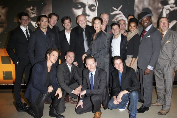 'Mob City' Screening in Hollywood [social group,event,team,suit,white-collar worker,formal wear,frank darabont,actors,president,ed burns,head of programming,micah parker,milo ventimiglia,back row,tnt,mob city screening]