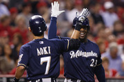 Rickie Weeks and Norichika Aoki Photos - 1 of 12 Photo