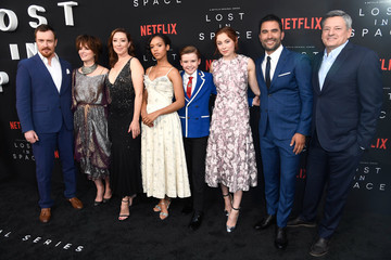 Mina Sundwall Maxwell Jenkins Premiere Of Netflix's 'Lost In Space' Season 1 - Arrivals