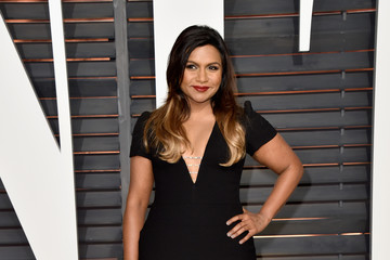 Mindy Kaling Arrivals at the Elton John AIDS Foundation Oscars Viewing Party — Part 5