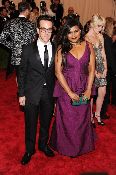 Mindy Kaling B J Novak Mindy Kaling And B J Novak Photos Red Carpet Arrivals At The Met Gala Zimbio