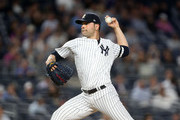 Jaime Garcia #34 of the New York Yankees throws a pitch in the top of the second inning against the Minnesota Twins on September 18, 2017 at Yankee Stadium in the Bronx borough of New York City.