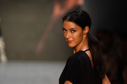 Rebecca Mir walks the runway at the Minx by Eva Lutz show during the Mercedes-Benz Fashion Week Spring/Summer 2015 at Erika Hess Eisstadion on July 9, 2014 in Berlin, Germany.