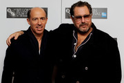 """Director Julian Schnabel (R) and producer Jon Kilik attend the """"Miral"""" premiere during the 54th BFI London Film Festival at the Vue West End on October 18, 2010 in London, England."""