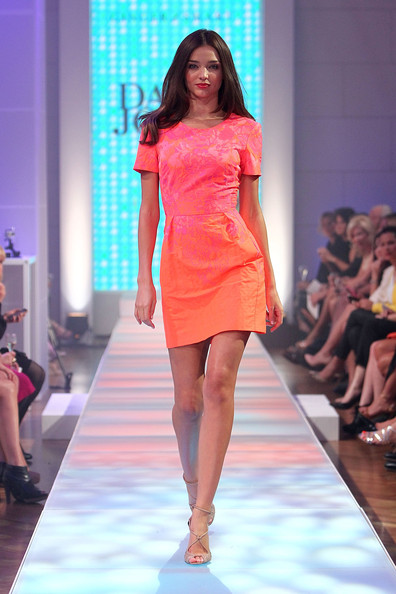 Miranda Kerr Walks the David Jones Runway