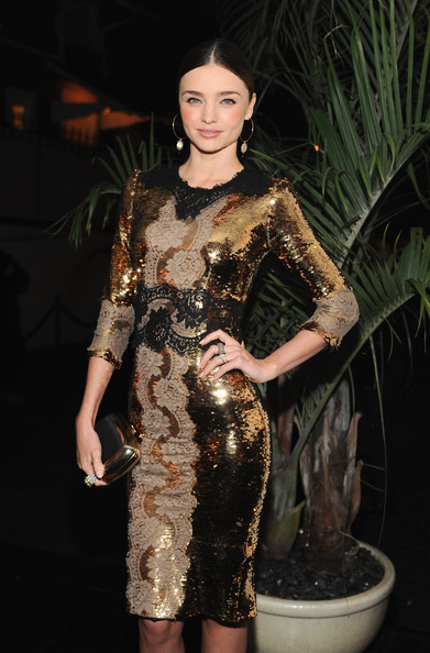 Miranda Kerr - Dom Perignon And W Magazine Celebrate The Golden Globes At Chateau Marmout