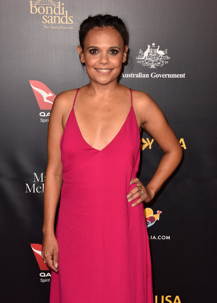 16th Annual G'Day USA Los Angeles Gala - Arrivals [clothing,dress,cocktail dress,pink,carpet,magenta,premiere,a-line,neck,event,arrivals,miranda tapsell,gday usa,los angeles,usa,culver city,california,3labs]