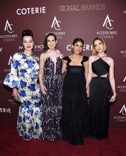 Accessories Council Hosts The 23rd Annual ACE Awards - Arrivals [dress,clothing,fashion,premiere,red carpet,carpet,shoulder,event,flooring,haute couture,accessories council,ace awards,l-r,annual ace awards,new york city,jacqueline demeterio,miriam shor,debi mazar,molly bernard]