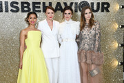 """(L-R) Gugu Mbatha-Raw, Keeley Hawes, Keira Knightley and Suki Waterhouse attend the """"Misbehaviour"""" World Premiere at The Ham Yard Hotel on March 09, 2020 in London, England."""