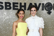 """(L-R) Gugu Mbatha-Raw and Keira Knightley attend the """"Misbehaviour"""" World Premiere at The Ham Yard Hotel on March 09, 2020 in London, England."""