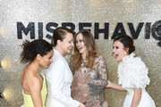 """(L-R) Gugu Mbatha-Raw, Keeley Hawes, Suki Waterhouse and Keira Knightley attend the """"Misbehaviour"""" World Premiere at The Ham Yard Hotel on March 09, 2020 in London, England."""