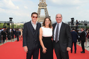 (L-R) Executive Producer David Ellison, Producer Dana Goldberg and Executive Producer Don Grager attend the Global Premiere of 'Mission: Impossible - Fallout' at Palais de Chaillot on July 12, 2018 in Paris, France.