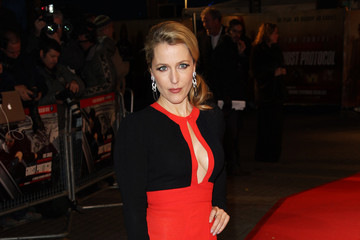 Gillian Anderson Mission: Impossible Ghost Protocol - UK Premiere - Inside Arrivals