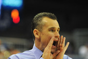 Coach Billy Donovan of the Florida Gators directs play against the Missouri Tigers January 19, 2013 at Stephen C. O'Connell Center in Gainesville, Florida.  The Gators won 83 - 52 and Donovan scored his 400th win as the Gators coach.