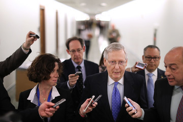 Mitch McConnell Senate Republicans Hold News Conference on Importance of Tax Reform