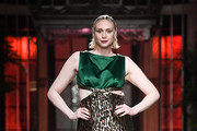 Gwendoline Christie walks the runway during Miu Miu Cruise 2019 Fashion Show at Hotel Waldorf Astoria on November 22, 2018 in Shanghai, China.
