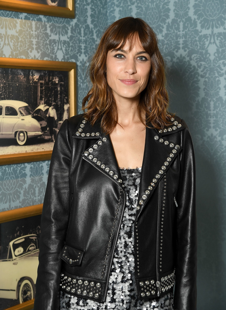 alexa chung photos photos miu miu cruise collection show