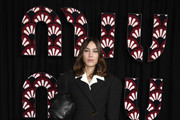 Alexa Chung attends the Miu Miu show as part of the Paris Fashion Week Womenswear Fall/Winter 2020/2021 on March 03, 2020 in Paris, France.