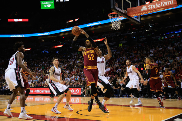 Cleveland Cavaliers v Miami Heat [photograph,basketball,basketball moves,basketball court,sports,basketball player,sport venue,ball game,player,tournament,mo williams,user,user,user,ball,note,miami,cleveland cavaliers,miami heat]